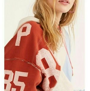 Free people Beach Break hooded pullover oversized